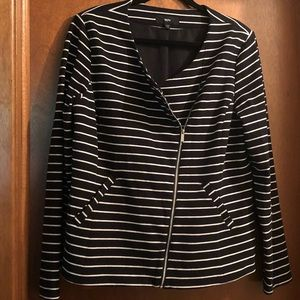 Mossimo Striped Moto Style Jacket